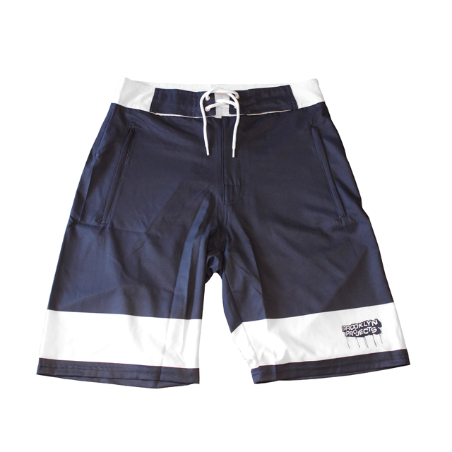 画像1: BROOKLYN PROJECTS : ALL DAY SHORTS : NAVY x WHITE