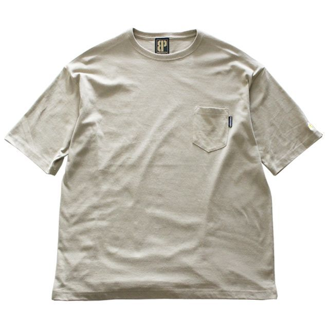 画像1: BROOKLYN PROJECTS : BEER POCKET TEE : KHAKI