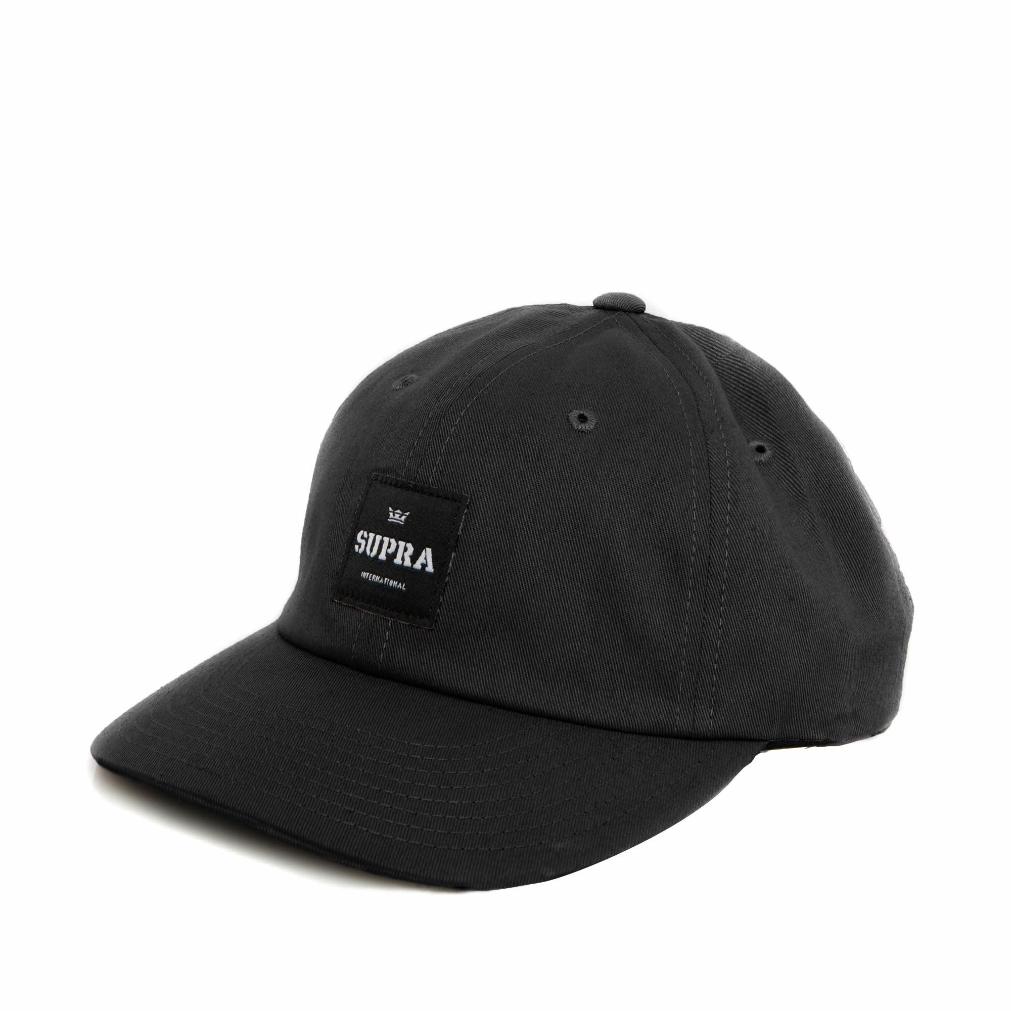 画像1: SUPRA APPAREL : LABEL SLIDER HAT : BLACK