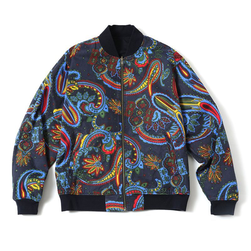 画像2: BILLIONAIRE BOYS CLUB : PAISLEY REVERSIBLE BOMBER JACKET : BLUE