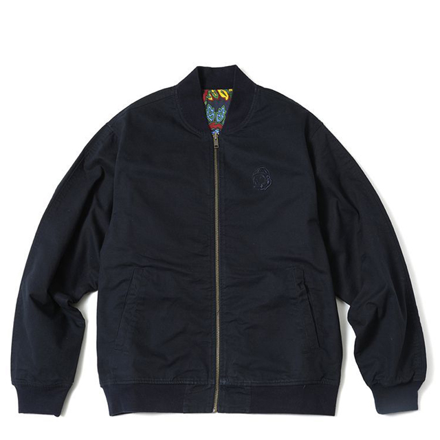 画像1: BILLIONAIRE BOYS CLUB : PAISLEY REVERSIBLE BOMBER JACKET : BLUE