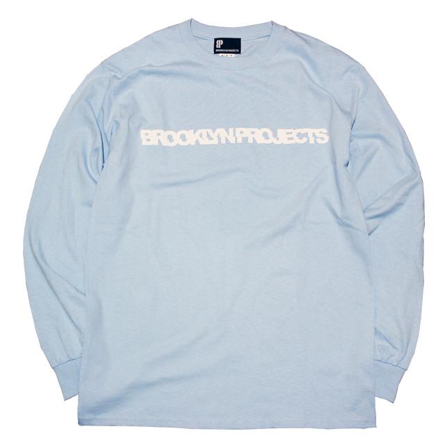 画像1: BROOKLYN PROJECTS : SLICE LOGO L/S Tシャツ : LT BLUE