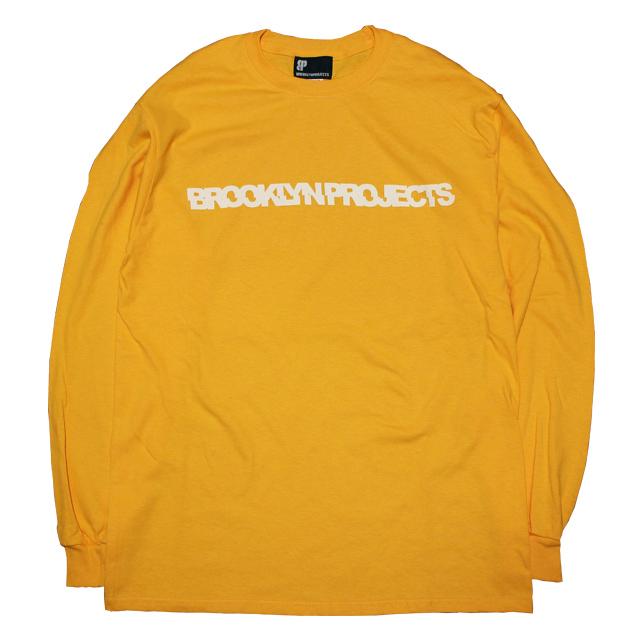 画像1: BROOKLYN PROJECTS : SLICE LOGO L/S Tシャツ : GOLD