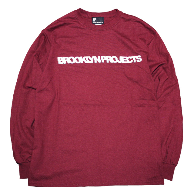 画像1: BROOKLYN PROJECTS : SLICE LOGO L/S Tシャツ : BURGANDY