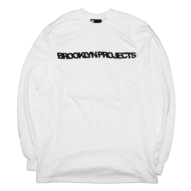 画像1: BROOKLYN PROJECTS : SLICE LOGO L/S Tシャツ : WHITE