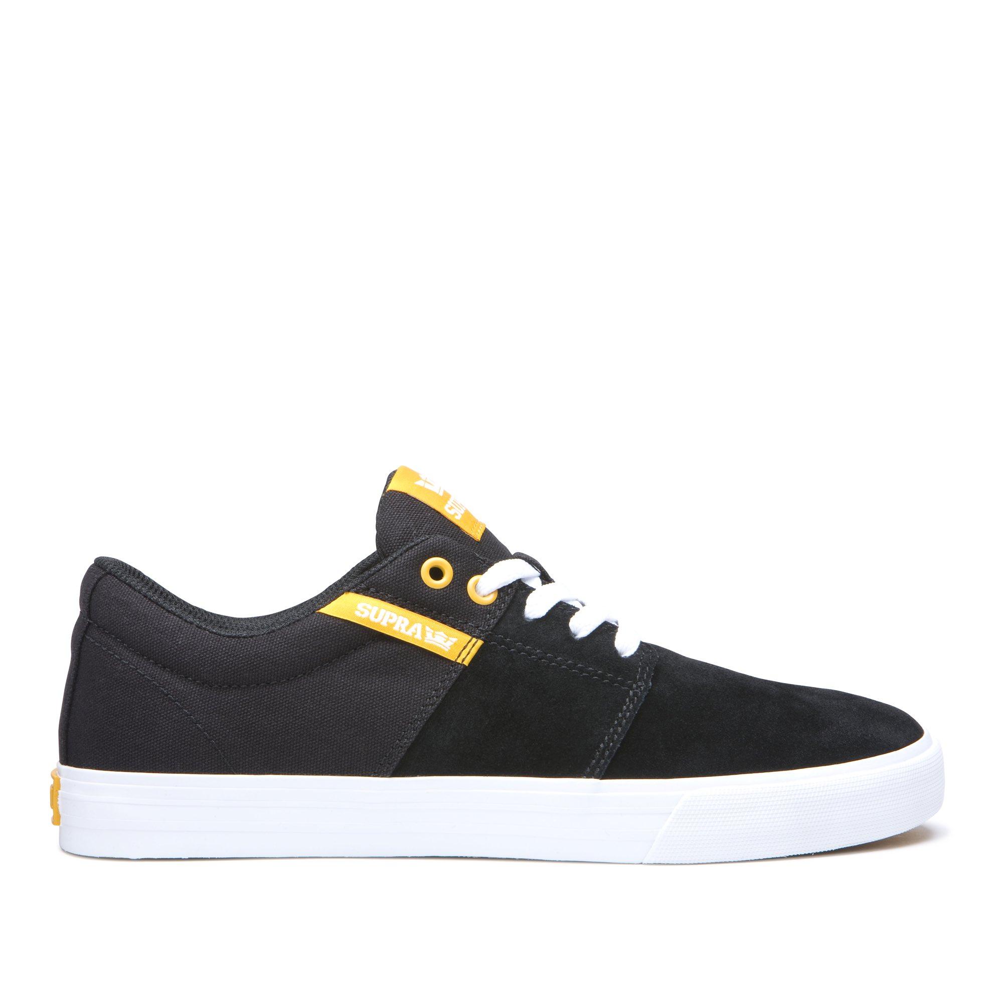 画像1: SUPRA FOOTWEAR : STACKS II VULC : BLACK/GOLDEN-WHITE