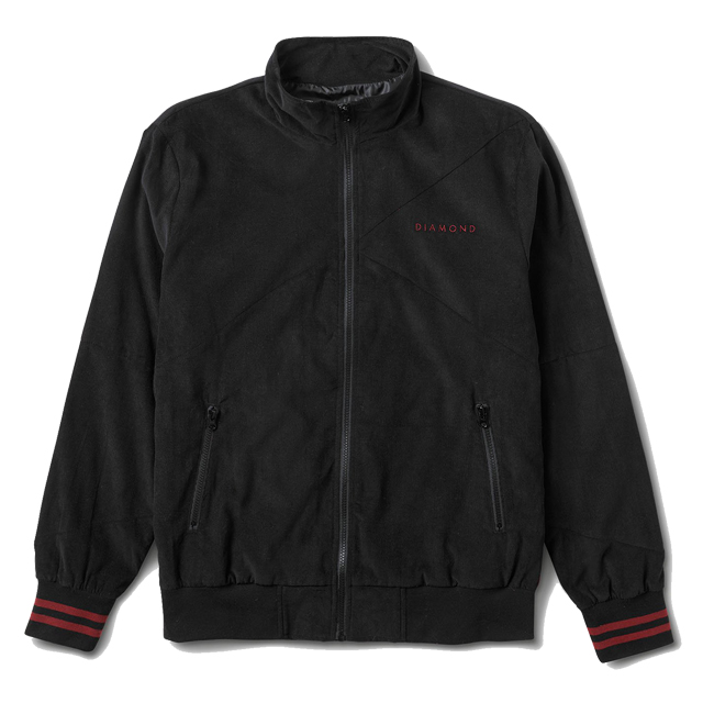 画像1: DIAMOND SUPPLY CO. : Futura Corduroy Track Jacket : BLACK