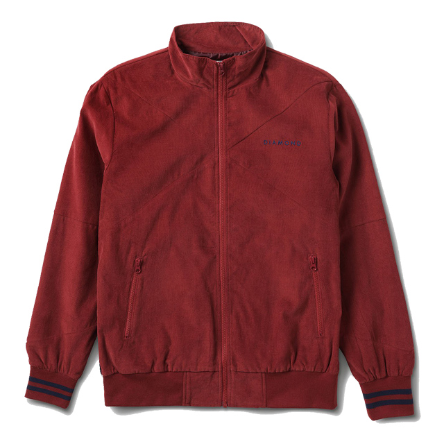 画像1: DIAMOND SUPPLY CO. : Futura Corduroy Track Jacket : BURGANDY