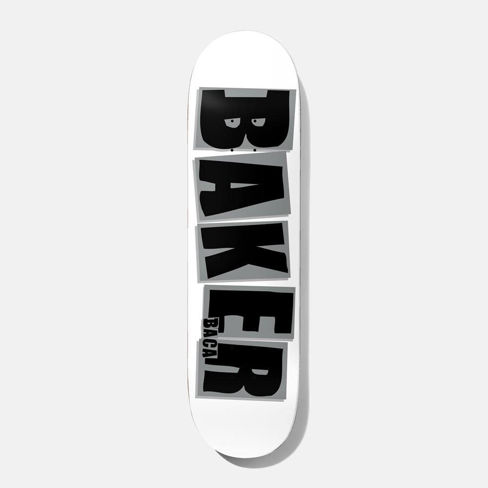 画像1: BAKER : BACA BRAND NAME 8.0 : WHITE x GREY