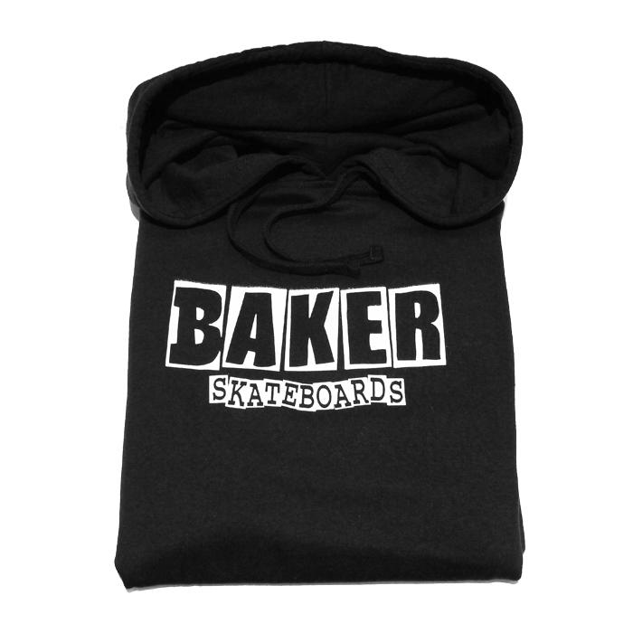 画像1: BAKER : BRAND LOGO PULLOVER : BLACK